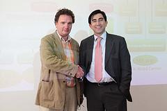 Hannes Astok, Project Manager de e-Governance Academy y el Ministro TIC, Diego Molano Vega